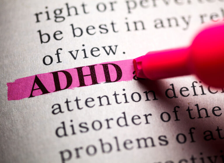 27553921 - fake dictionary, definition of the word adhd